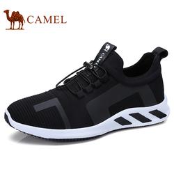 Camel骆驼男鞋舒适透气低帮鞋户外运动休闲潮流时尚跑步鞋飞织鞋
