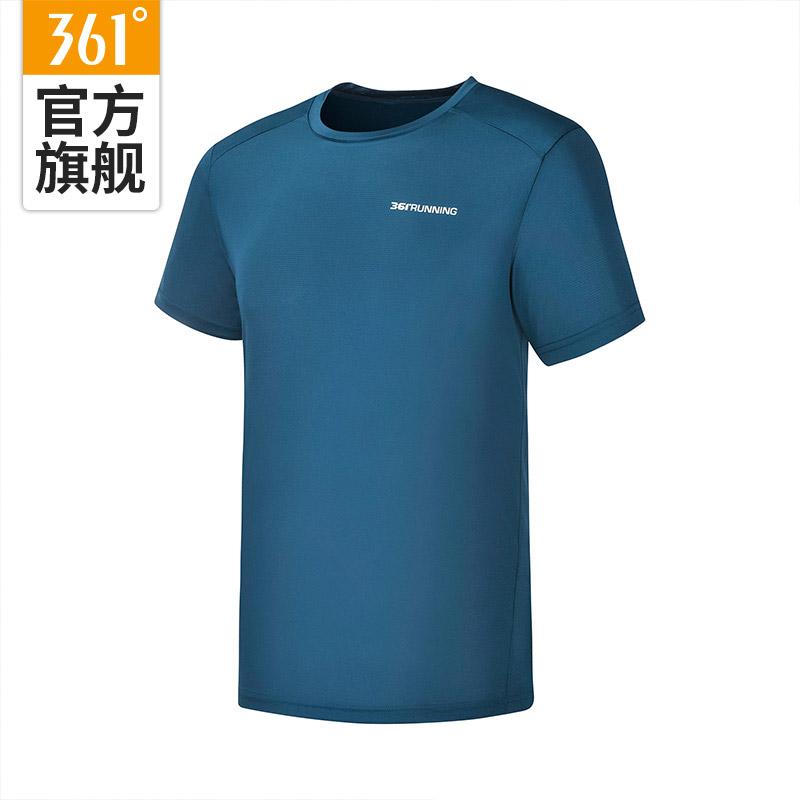 361运动T恤男夏季宽松圆领速干透气纯色跑步薄款上衣短袖t恤女z