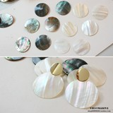 natural sea shell round pendant diy earrings material accessories