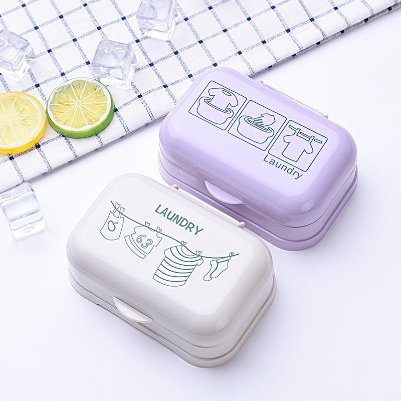 肥皂盒带盖家用便携大号卫生间沥水双层个性新款学生宿舍香皂盒子