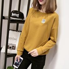 女装 宽松加绒加厚上衣ins超火 外套秋冬季 长袖 韩版 卫衣2018新款