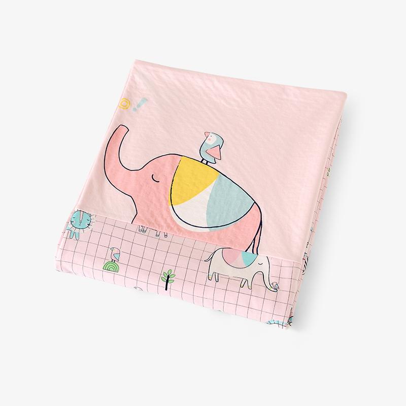 英氏婴儿床上用品 女宝大被套纯棉包被套被罩 单件 182B0346