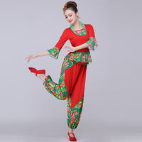 Yangge clothing costumes 2019 new middle-aged fan dance suit ethnic wind square dance costume female adult