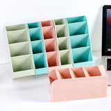 Pen holder oblique insert multi-function stationery simple pen holder storage box large capacity girl heart ins combination pen barrel