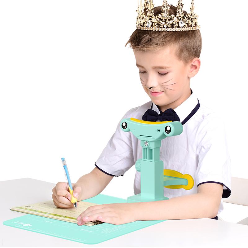 猫太子纠正学生坐姿矫正器视力小孩书写防近视架有声智能提醒儿童幼儿园下巴托写作业姿势视力保护器