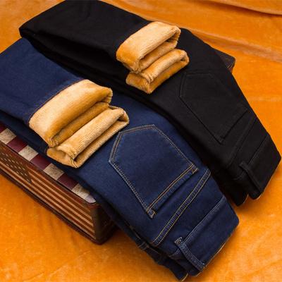 加绒牛仔裤女外穿小脚2018新款冬季韩版高腰显瘦弹力加厚带绒长裤