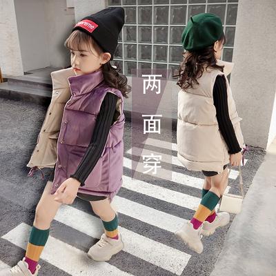 女童2018新款秋冬棉马甲韩版加厚款洋气儿童冬季外穿背心坎肩加绒