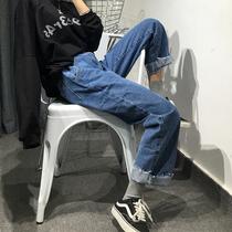 大码牛仔裤女胖MM夏装韩版宽松显瘦200斤九分裤子学生高腰阔腿裤