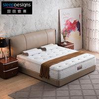 美国思丽德赛 床垫海克力士弹簧双人床垫微天丝驼毛凝胶克粒棉1.8