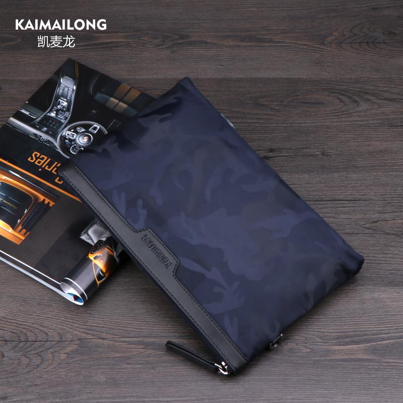 凯麦龙男士手包大容量手拿包韩版帆布包休闲男包手腕包牛津布尼龙