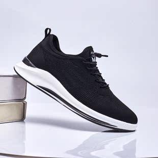 新款 跑步透气学生潮鞋 男四季鞋 运动旅游男鞋 网面飞织休闲男鞋 潮鞋