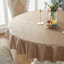 Round tablecloth waterproof, oil-proof and wash-free household tablecloth round ironing mat