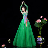 Opening Dance Dresses Female Modern Elegant Large Chorus Dresses Atmospheric Song and Dance Dresses