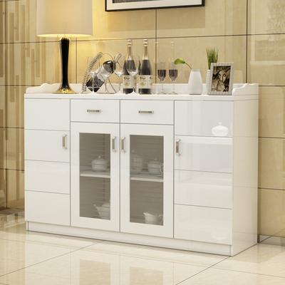 烤漆餐边柜现代简约实木客厅收纳储物柜宜家酒柜茶水柜特价碗橱柜