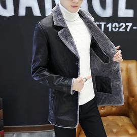 个性ins皮衣男士韩版中长款pu皮风衣潮流春夏季机车大衣外套男装图片