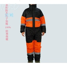 Long-style cold storage clothing cold-proof and freeze-proof clothing multi-functional overcoat of men's tooling