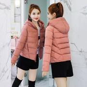 朵佳妮棉衣外套女2018冬装新款韩版女士短款休闲棉服连帽小棉袄潮