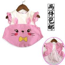 儿童围裙纯棉防水宝宝围兜罩衣婴儿无袖吃饭小孩背心式画画反穿衣