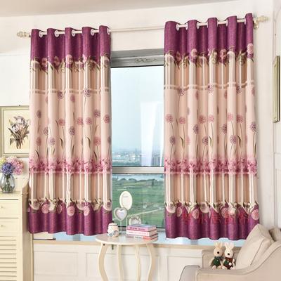 窗帘布卧室客厅飘窗遮光半帘田园窗帘成品全遮光短帘定制清仓包邮排行