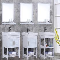 防水卫浴柜PVC幼儿园陶瓷洗脸盆台上盆连体洗手盆儿童浴室柜组合