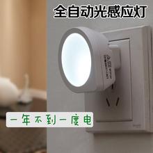 创意光感应小夜灯卧室插电全自动开关led节能灯 智能光控夜灯包邮