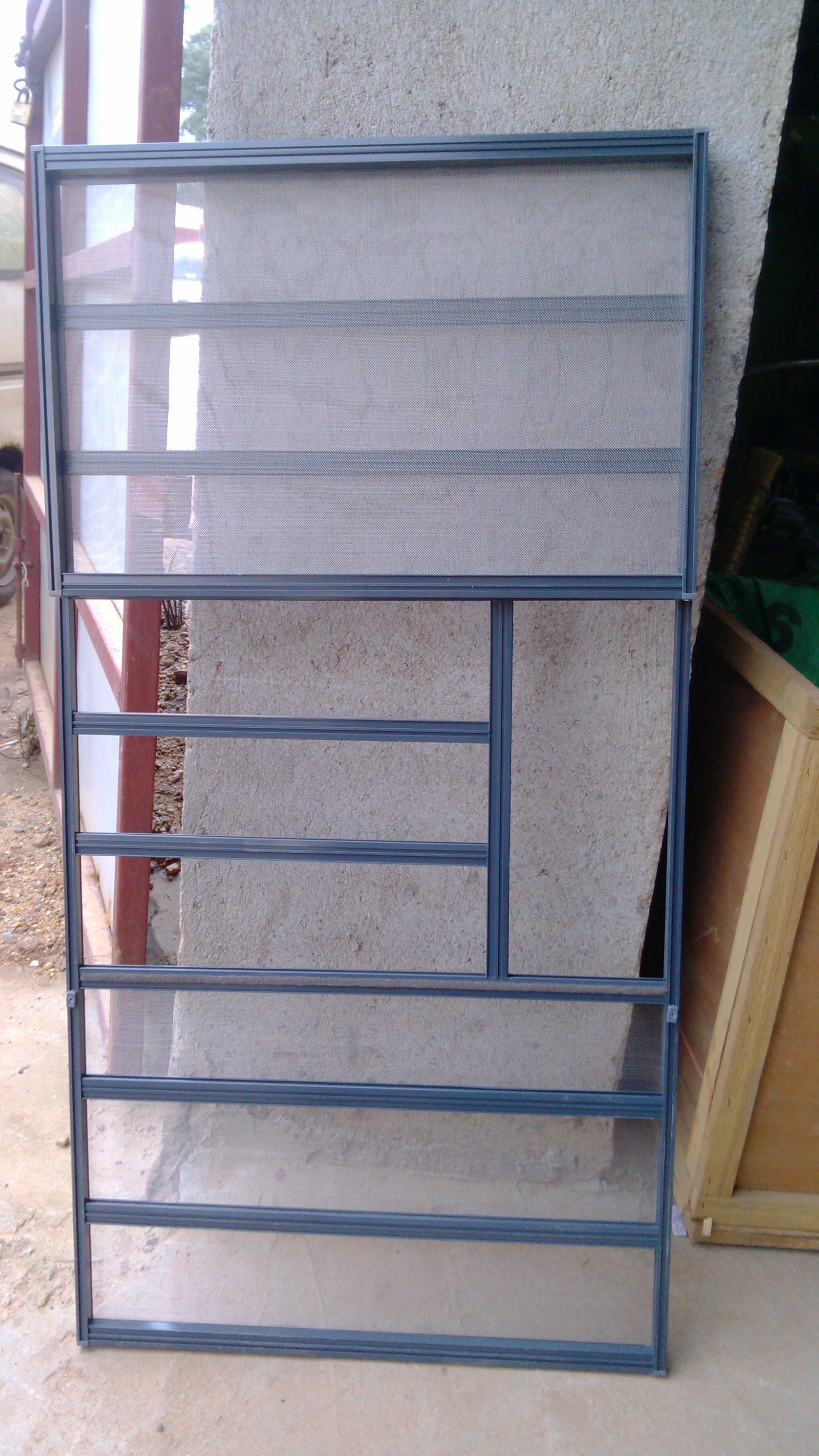 隐形新款铝合金卷筒折叠纱门窗三节金刚网防护防盗纱窗长沙包安装