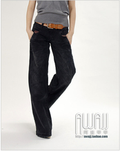 New 476-3 black jeans, casual pants, large-legged pants, Korean wide-legged pants and jeans