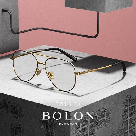 BOLON暴龙个性潮流飞行员框光学架款金属近视眼镜框架男女BJ7025商品大图