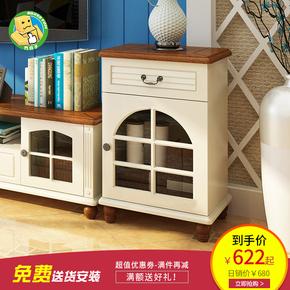 地中海电视机柜组合客厅家具欧式实木矮柜高柜烤漆储物地柜