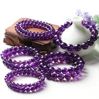 亲宝水晶天然紫水晶手链女多圈捡漏学生手串简约饰品个性生日礼物