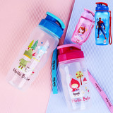 Authentic music buckle buckle cup children cup cartoon Kitty student plastic sealed sports bottle