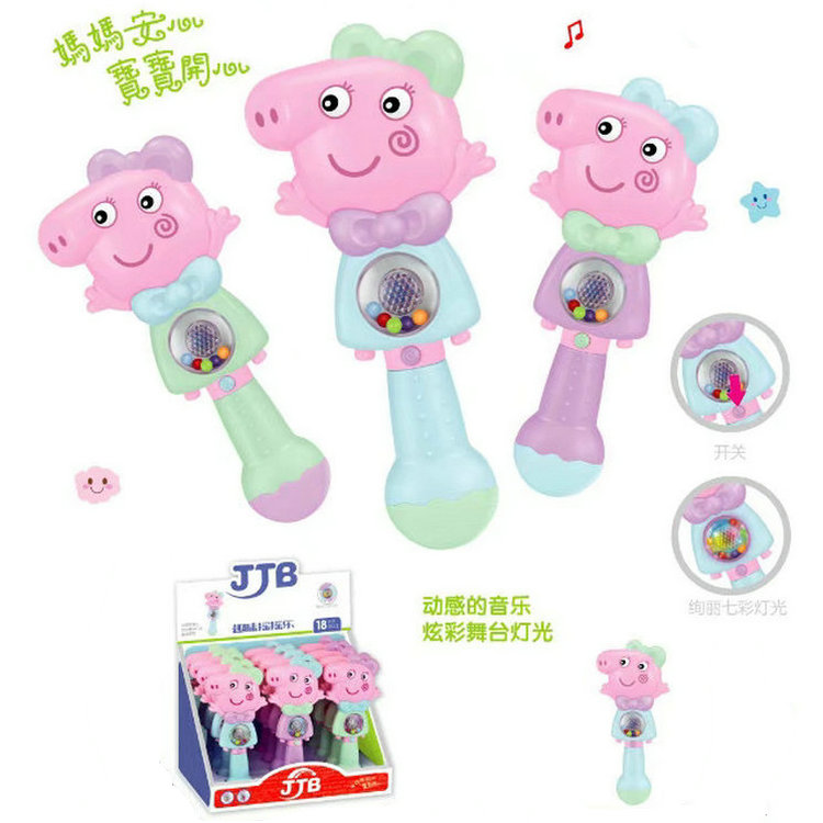 The pig shake music lights baby Peggy music puzzle 0-1-2-3 years old male and happy children story bear/cat babies baby early education rechargeable download