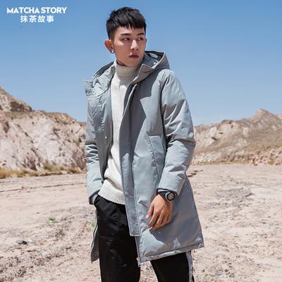 【2件5折】冬季男士外套棉衣中长款加厚棉服韩版潮流帅气情侣装
