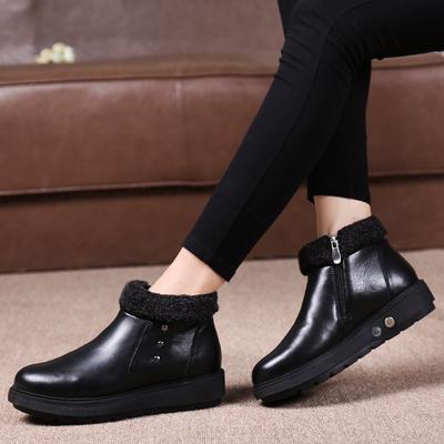 电暖鞋电热充电加热保暖可行走冬季暖脚宝发热休闲真皮棉鞋女短靴
