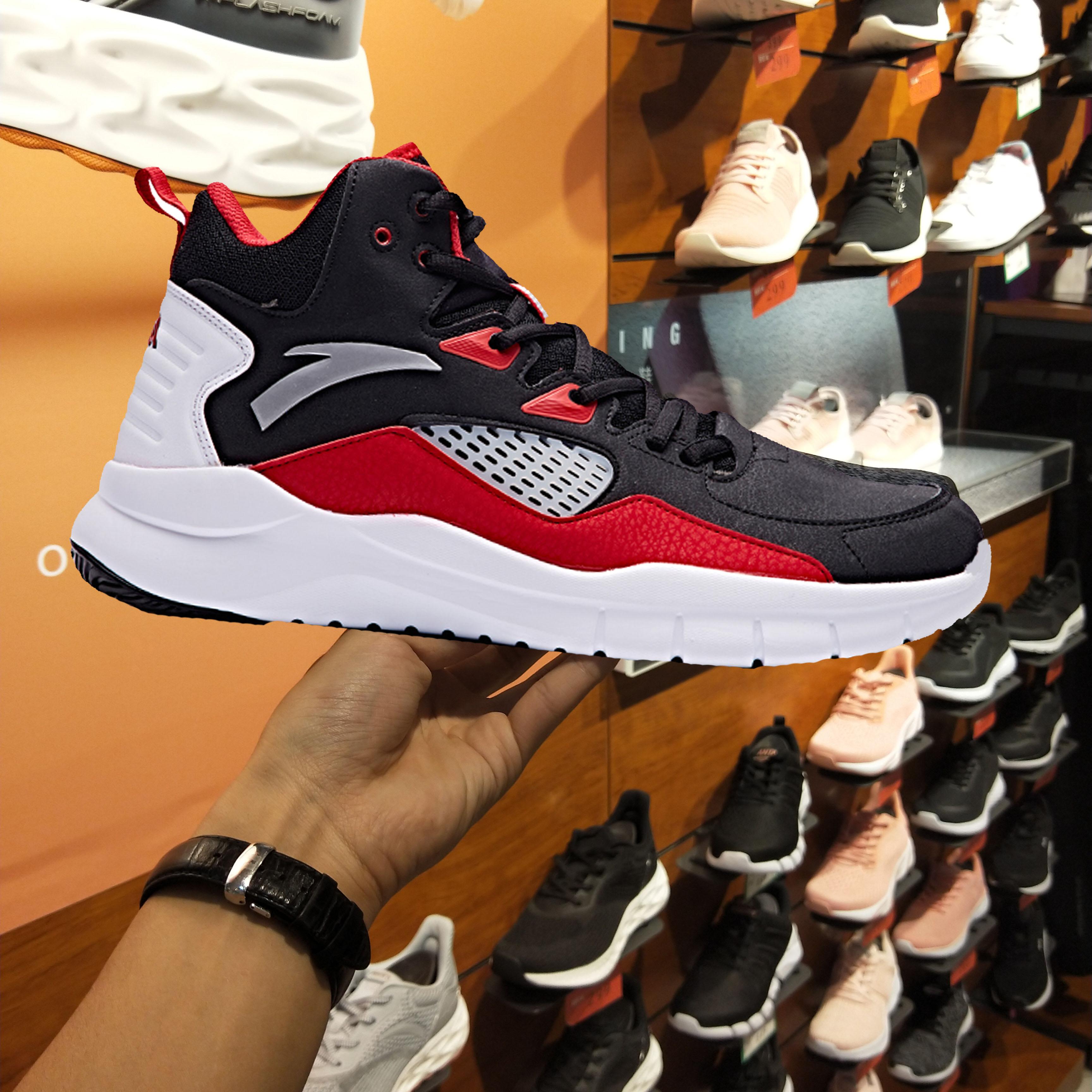 安踏篮球鞋男2018秋季新款正品低帮球鞋男鞋学生防滑耐磨运动战靴
