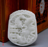 Natural jade a cargo Lantian jade double fish pendant jade has more than a year of carp frog gantry pendant jade brand