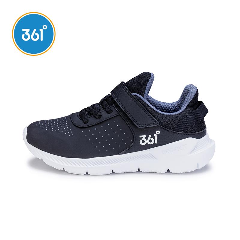 361兒童運動鞋男童革面跑步鞋中大童小童輕便冬季361度童鞋男休閑