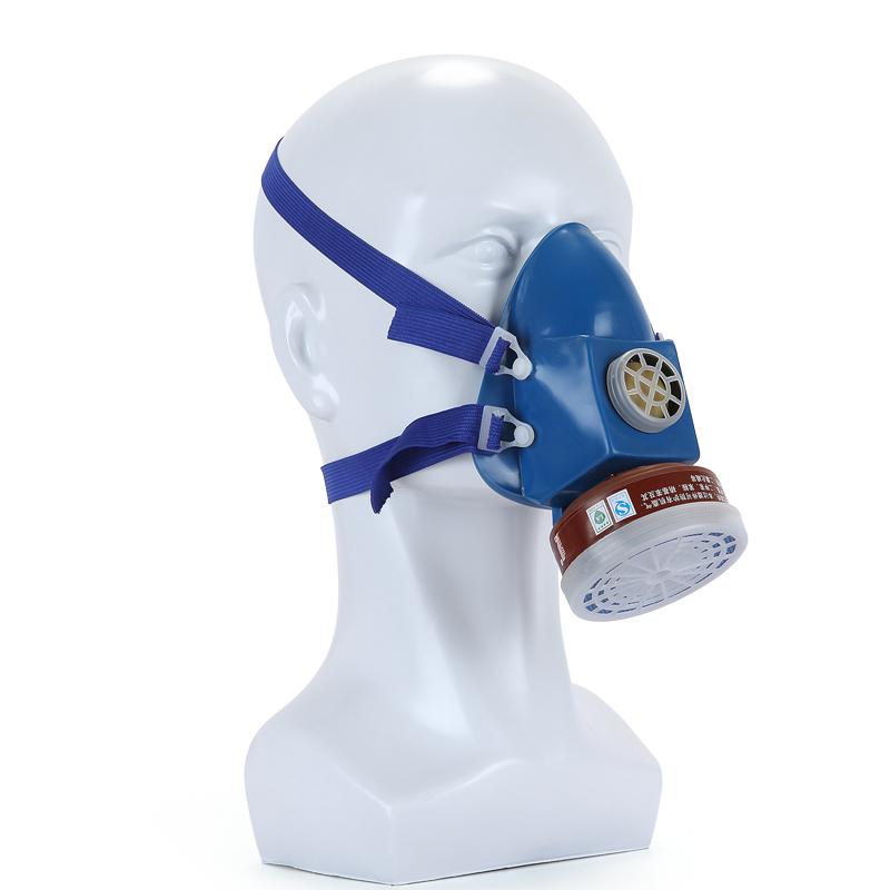 防毒口罩喷漆农药活性炭甲醛防毒面具消防面具防尘单罐呼吸阀普达