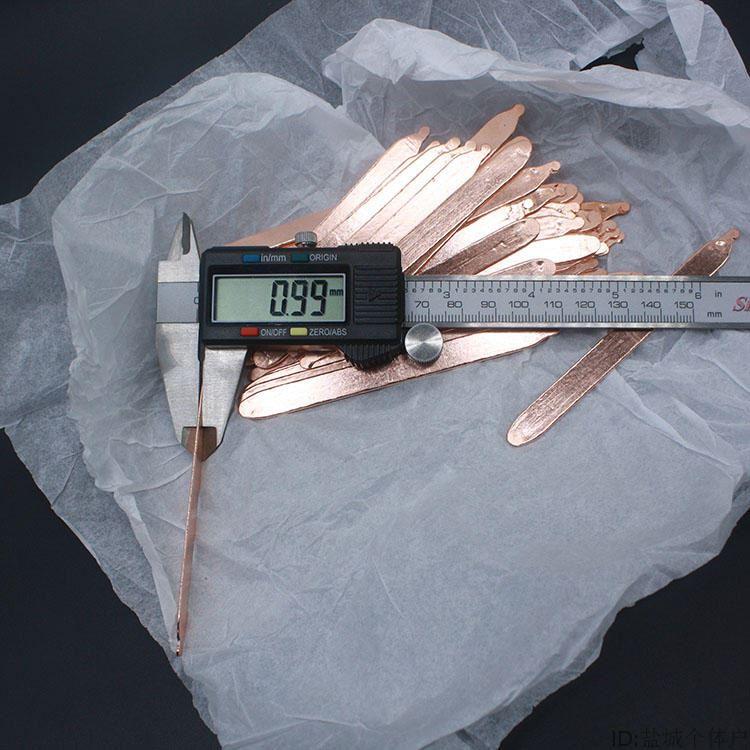 超薄平板风扇DIY笔记本导热管风扇改造管紫铜管扁热管 电脑铜管