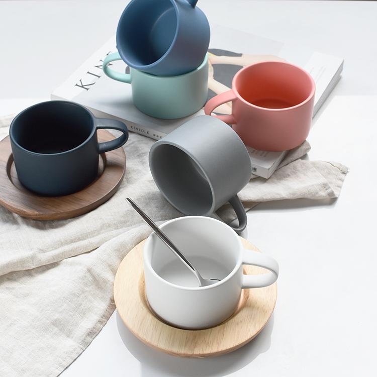 陶瓷咖啡杯带把