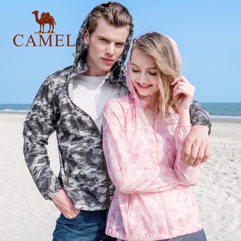 骆驼防晒衣女男 户外情侣皮肤衣男夏季防紫外线透气防风衣防晒服
