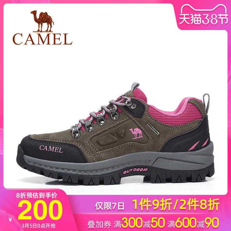 骆驼女鞋秋季新款运动鞋户外防滑登山徒步鞋深口旅游鞋休闲鞋