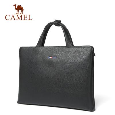 骆驼男包男士手提包时尚简约横款手提商务包男青年手拿休闲拉链包