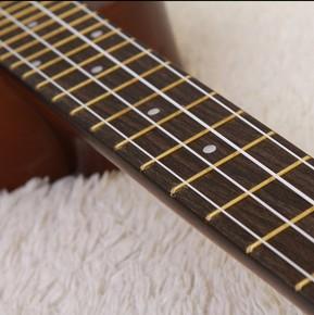 尤克里里粉色初学者钢贴纸学院派调音器模型女孩学生歌曲小吉他