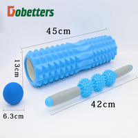 45CM Extended Foam Shaft Muscle Relaxation Massage Roller Fitness Yoga Column Roller Wheel Mace Pilates