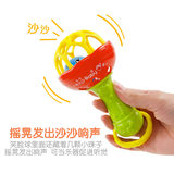 Baby toy 0-1 year old soft glue glue hand grip ring bell stick light multi-function baby bell stick