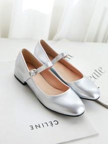 新款韩版漆皮中大童女童皮鞋高跟公主鞋学生演出鞋黑色表演女鞋子