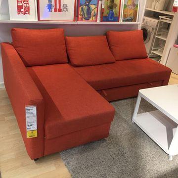 宜家国内代购弗瑞顿转角沙发床带储物多色可选实木假一赔十