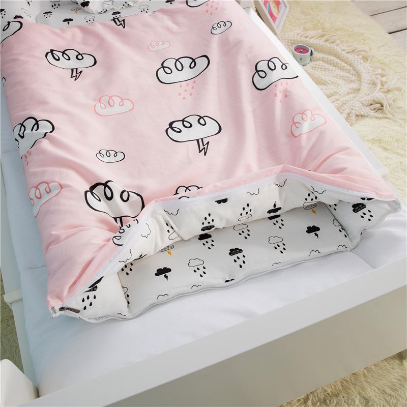 婴儿睡袋被子两用儿童防踢被可拆洗婴儿床 纯棉春秋冬款宝宝睡袋