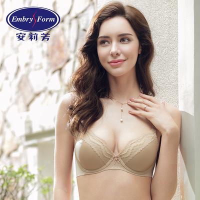 安莉芳新品光面聚拢内衣女士薄款大胸舒适蕾丝文胸EBW0052